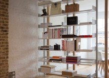 modular shelving system that doubles as room divider