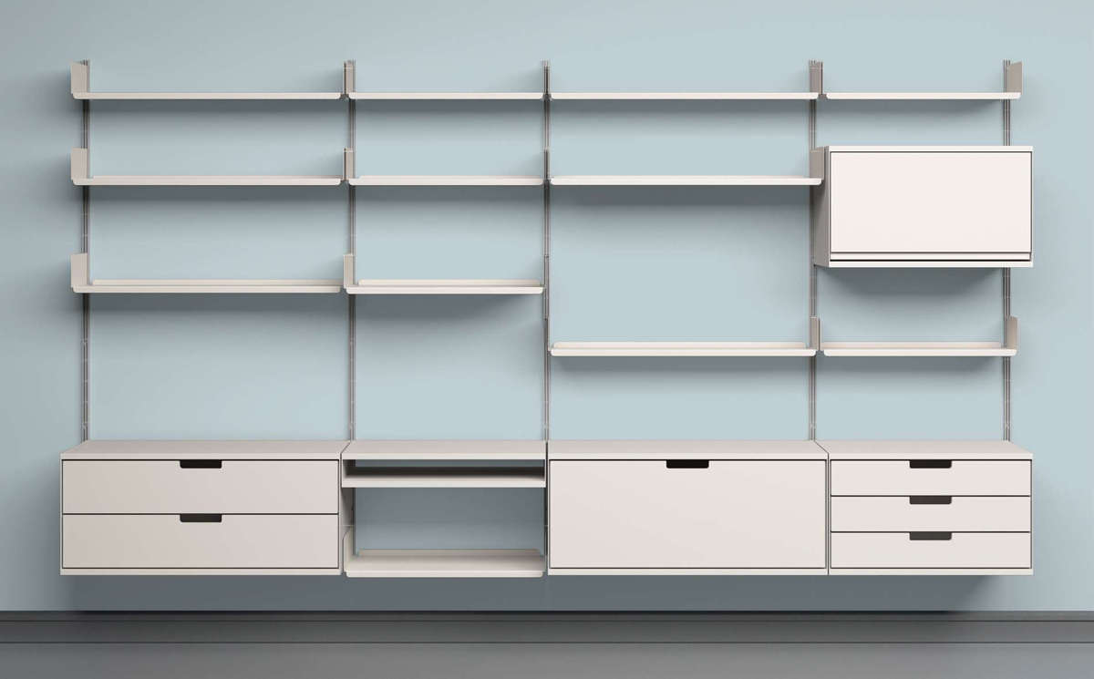 12 well thought out modular shelving systems. Black Bedroom Furniture Sets. Home Design Ideas