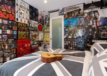 A wallpaper of posters for the trendy teen room
