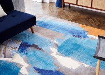 Abstract rug in blue from West Elm 217x155 Transitional Decor: Keep Summer Alive Throughout the Fall