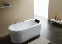 Acrylic round bathtub from Modern Bathroom Vanities 217x155 The Sleek Beauty of Round Bathtubs