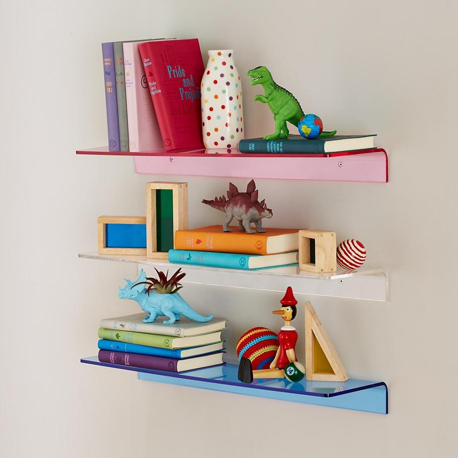 Acrylic wall shelving from The Land of Nod