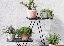 Angular plant stand from CB2