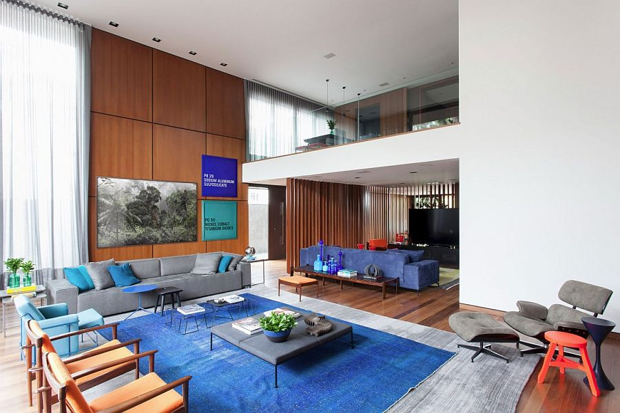 Area rug adds plenty of color to the living space