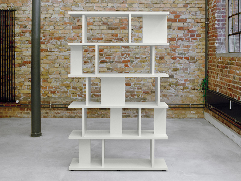 Arie modular shelving System in signal white