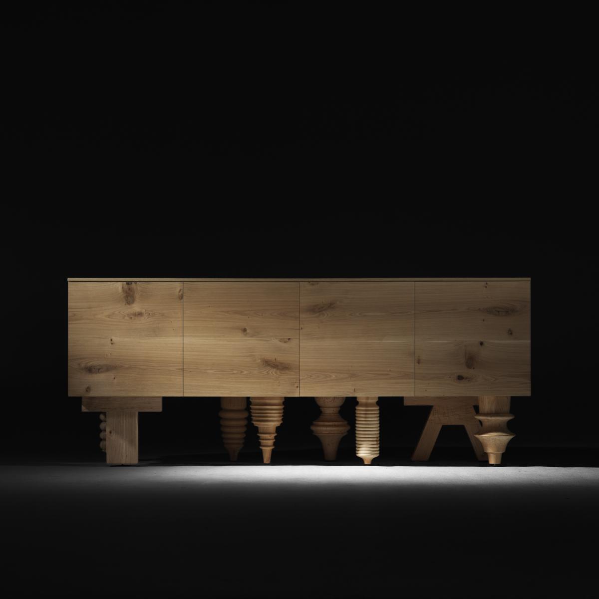 BD Barcelona Design Multileg cabinet in natural finish