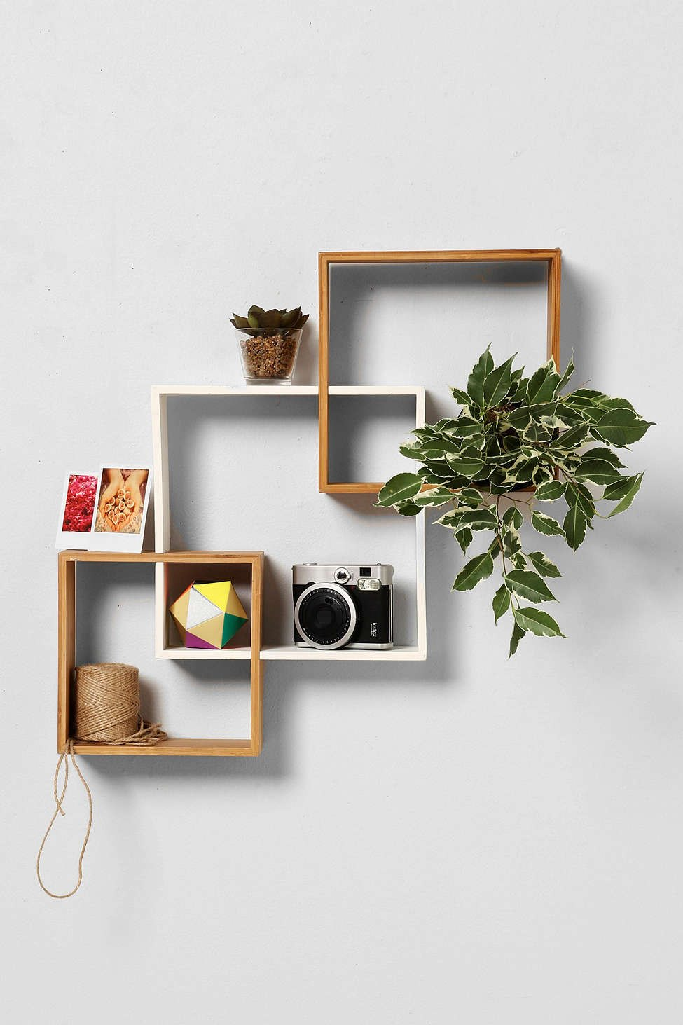 Bamboo wall shelving from Urban Outfitters