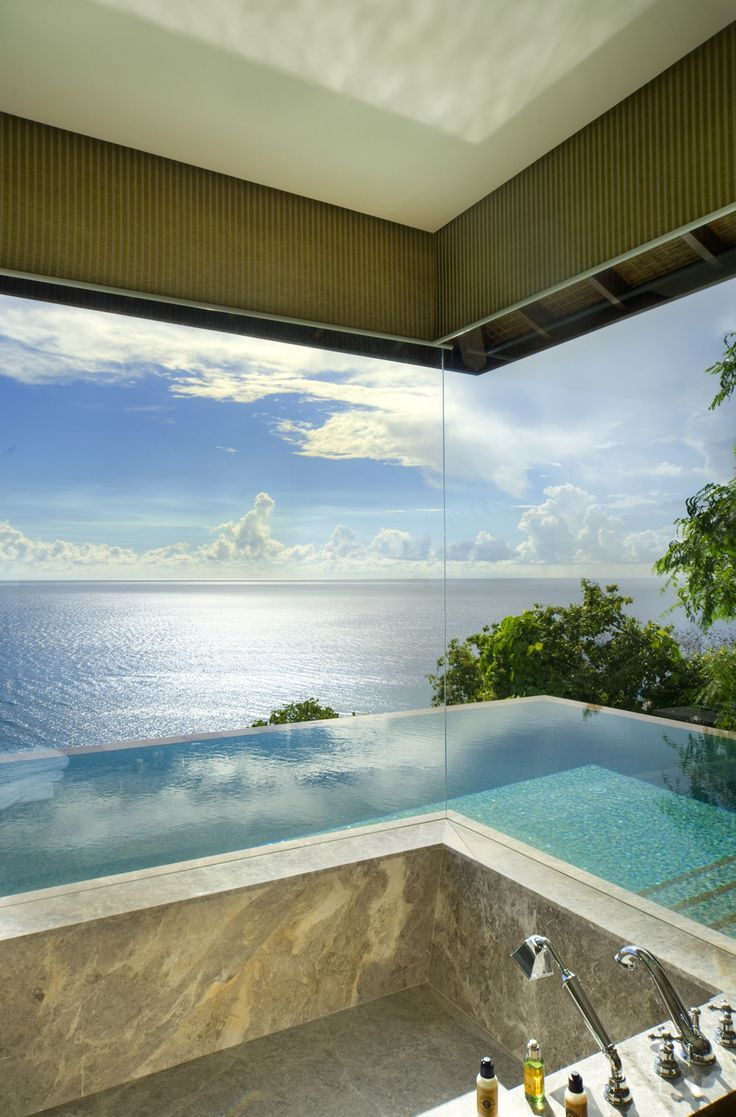 Bathroom from the Four Seasons Resort Seychelles  Spectacular Bathroom Design with a View Bathroom from the Four Seasons Resort Seychelles