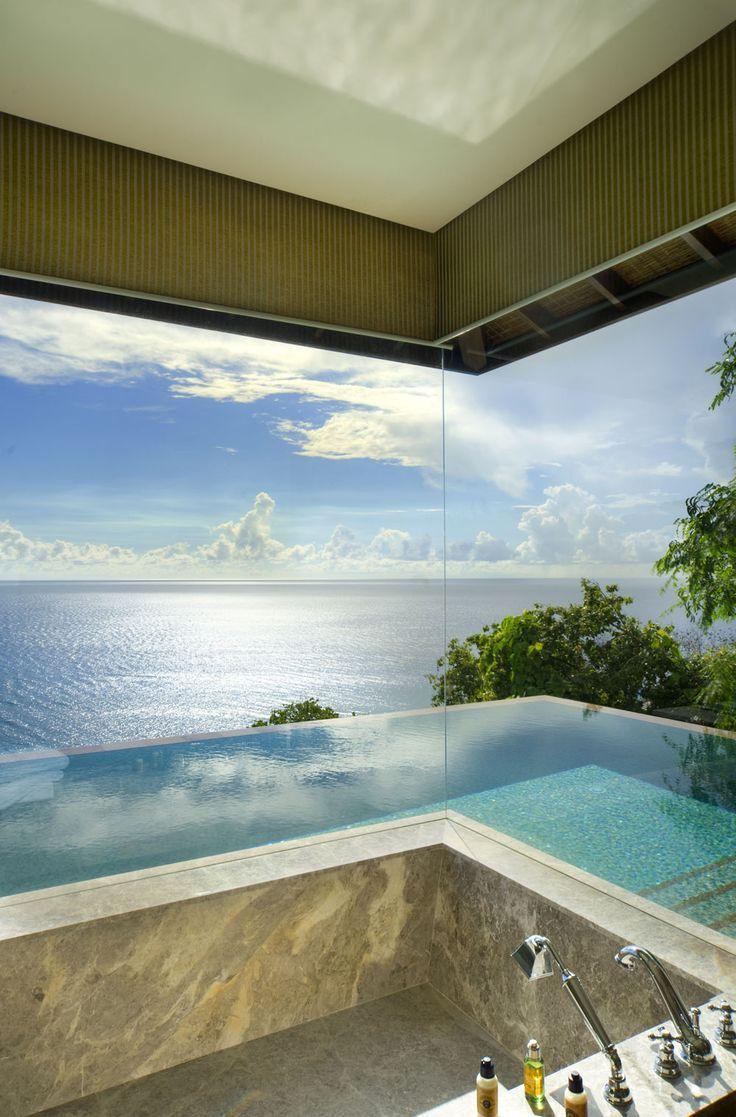 Bathroom from the Four Seasons Resort Seychelles
