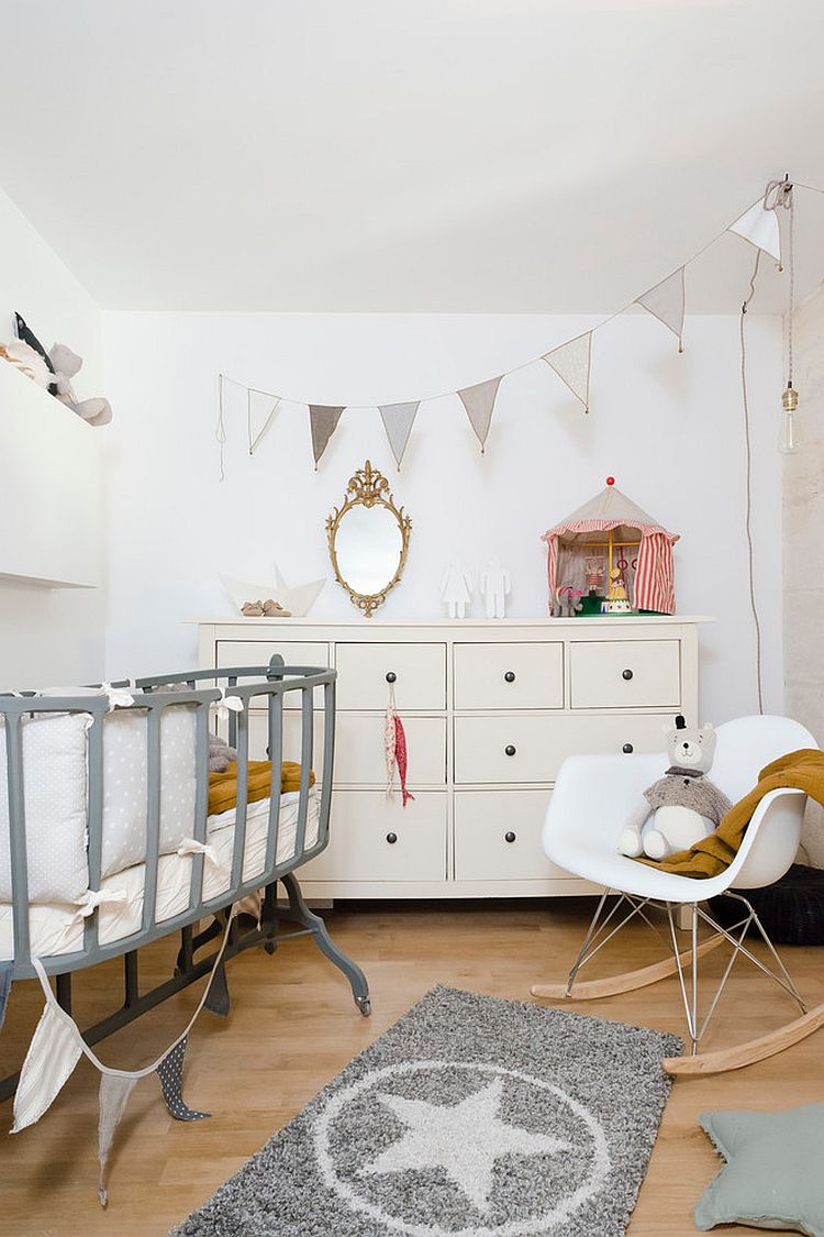 25 cute and comfy scandinavian nursery ideas. Black Bedroom Furniture Sets. Home Design Ideas