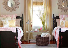 Beautiful country living guest room with twin beds 217x155 22 Guest Bedrooms with Captivating Twin Bed Designs