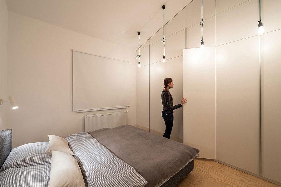 Bedroom shelves in white