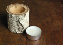 Birch wood candle holder 217x155 8 Easy DIY Wood Candle Holders for Some Rustic Warmth This Fall