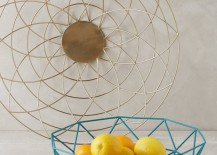 Blue wire basket from Anthropologie