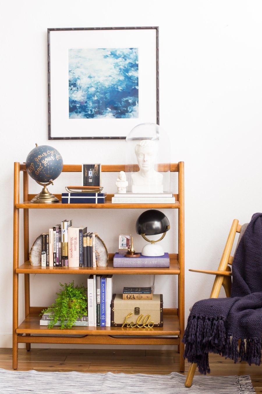 Bookshelf with academic style