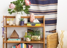 Bookshelf with desert style 217x155 How to Style Decorative Shelves