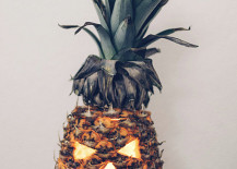 Carved fall pineapple