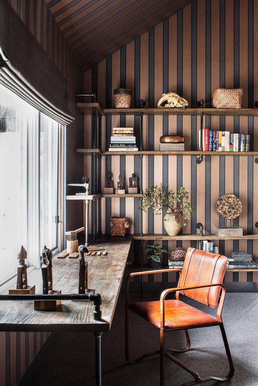 Casual and unique home workspace idea