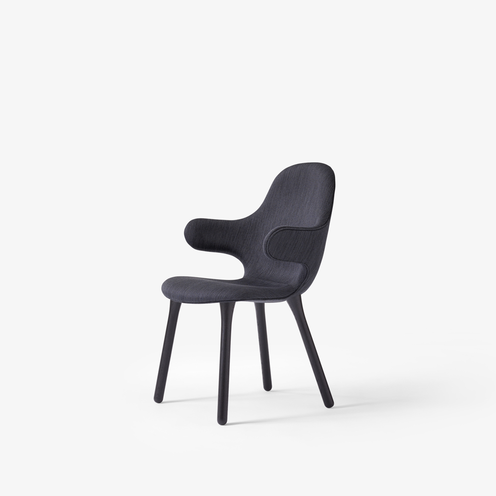 Catch Chair in black oak & dark grey