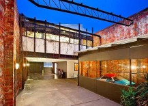 Central-courtyard-between-the-two-renovated-warehouse-homes-217x155