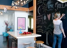 Chalkboard wall in the kitchen offers much more than aesthetics [Design: Daleet Spector Design]