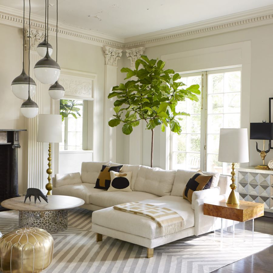 View in gallery chic sectional from jonathan adler