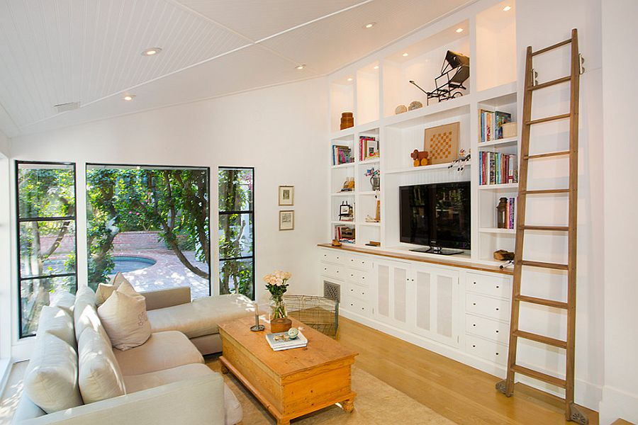 ... Clean and cozy eclectic family room [Design thea home inc] & 20 Small TV Rooms That Balance Style with Functionality