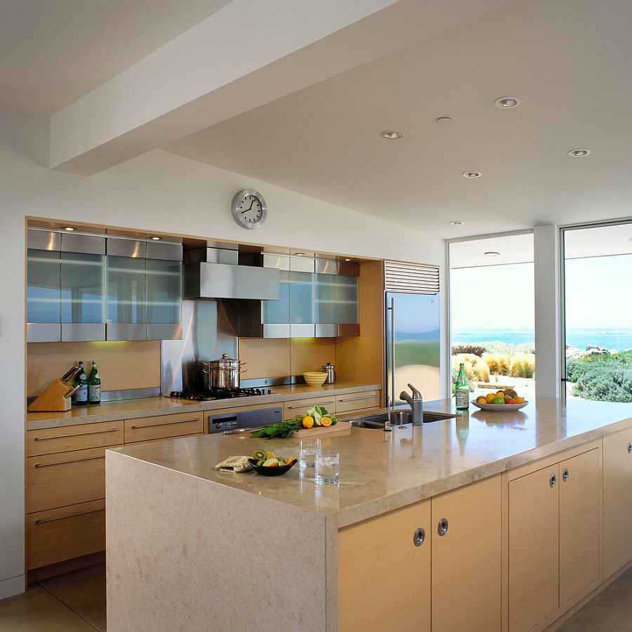 Kitchen With Living Room Design: Clarkson Residence: Cheerful Modern Beach House In Santa
