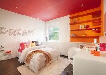 Color-blocking with pink and orange in style