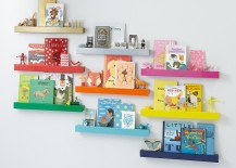 Color-coded shelf organization idea