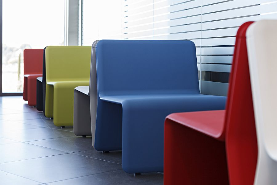 Colorful Actiu Shey modular soft seating
