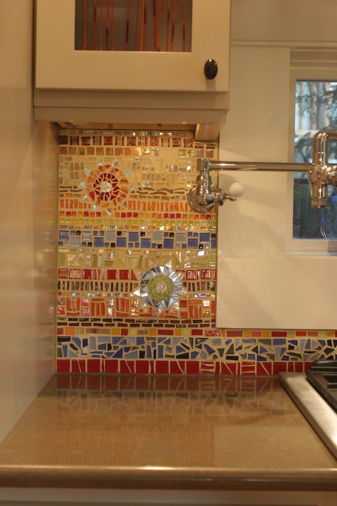 18 gleaming mosaic kitchen backsplash designs Mosaic kitchen wall tiles ideas