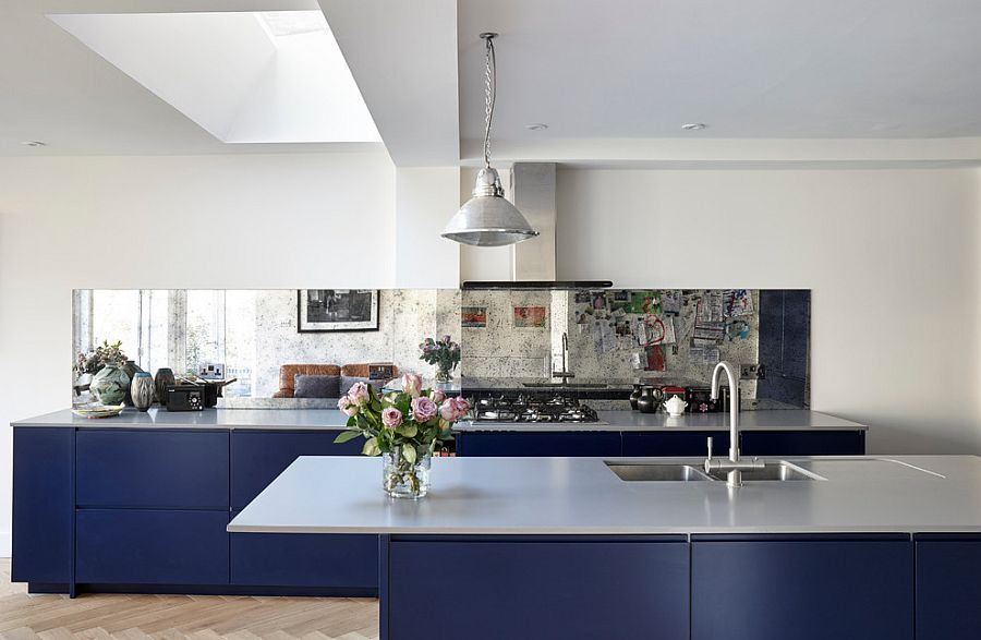 Combining sleek contemporary aesthetics with restrained eclectic style in the kitchen