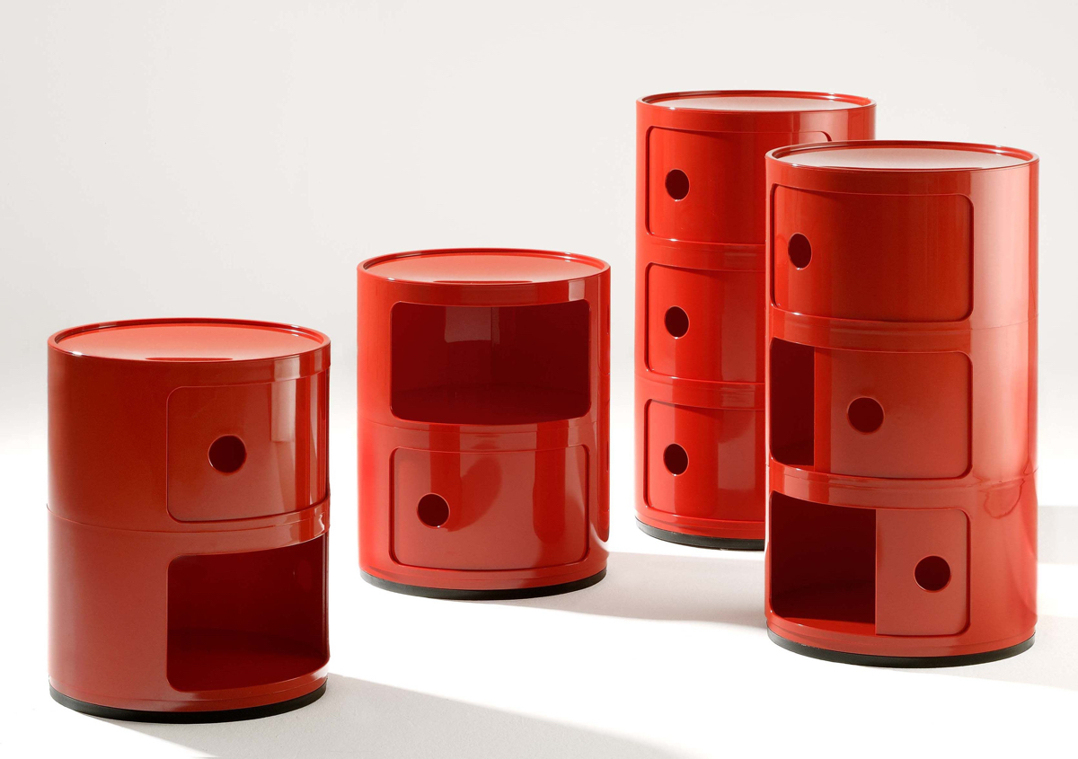 Componibili Storage Unit in red