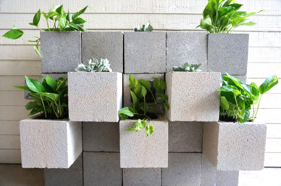 Concrete block wall style