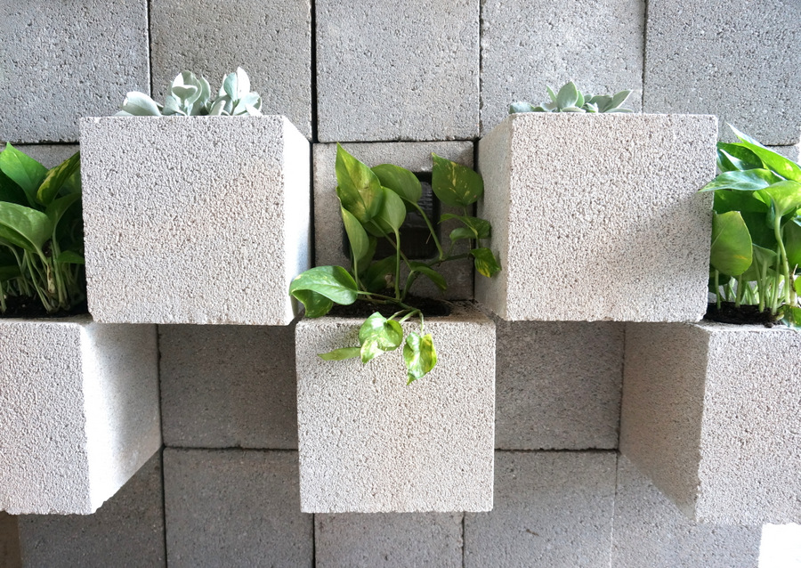 View In Gallery Concrete Block Wall