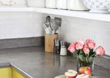 Concrete countertop DIY from A Beautiful Mess