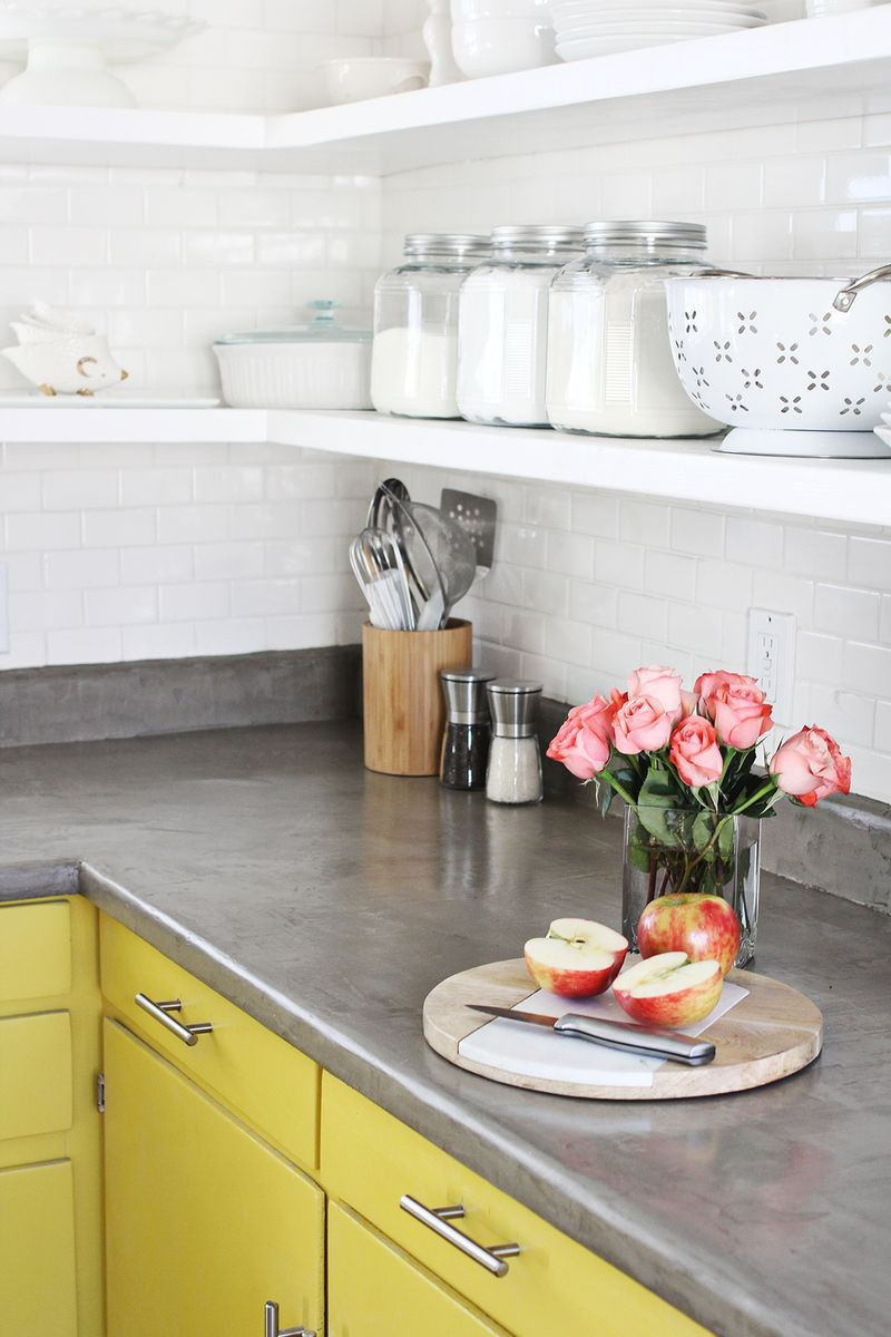 Concrete countertop DIY from A Beautiful Mess