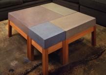 Concrete modular coffee table from Custom Made