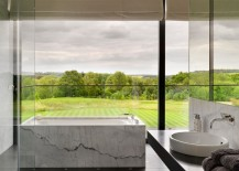 Contemporary bathroom with a lush green view 217x155 Spectacular Bathroom Design with a View