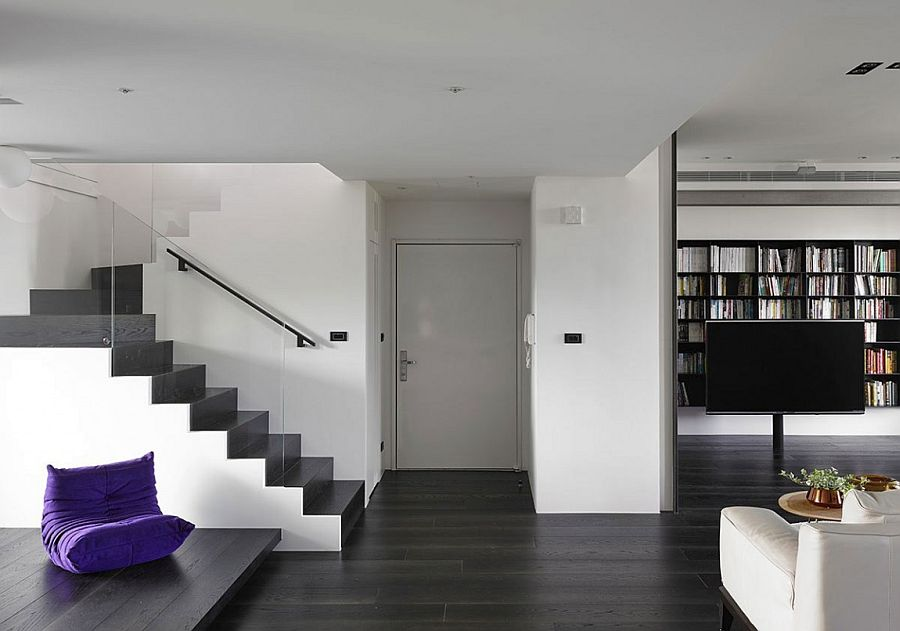 Contemporary renovation of a lovely family home with pops of color