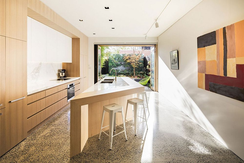 Contemporary sculptural kitchen island