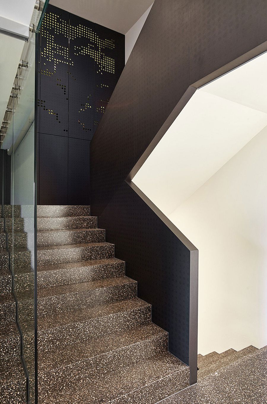 Cool metallic shading system adds aesthetic value to the interior as well