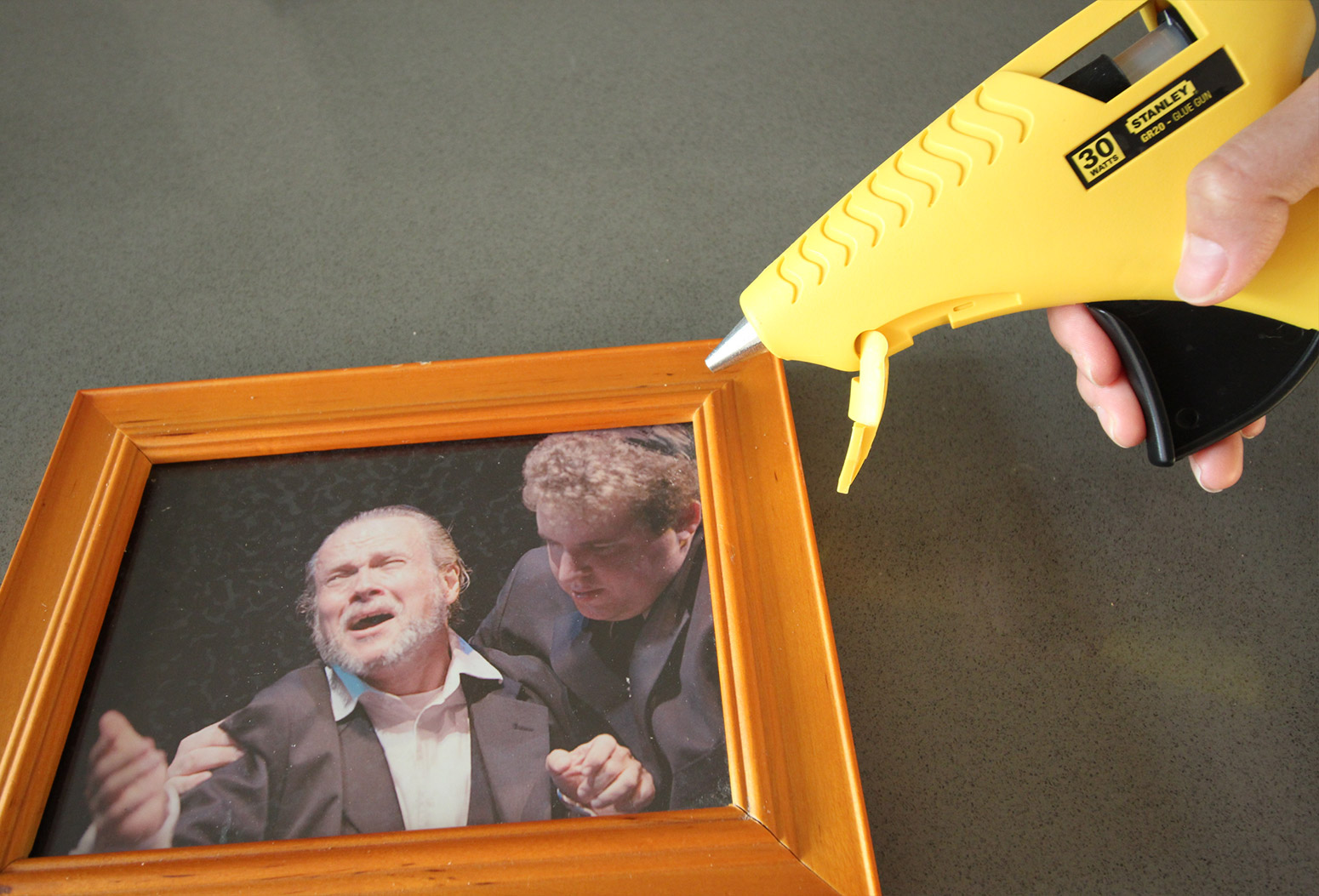 Cork Pic Frame DIY Glue Gun