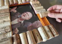 Cork Pic Frame DIY Glueing on Corks
