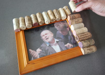 Cork Pic Frame DIY Lining up Corks