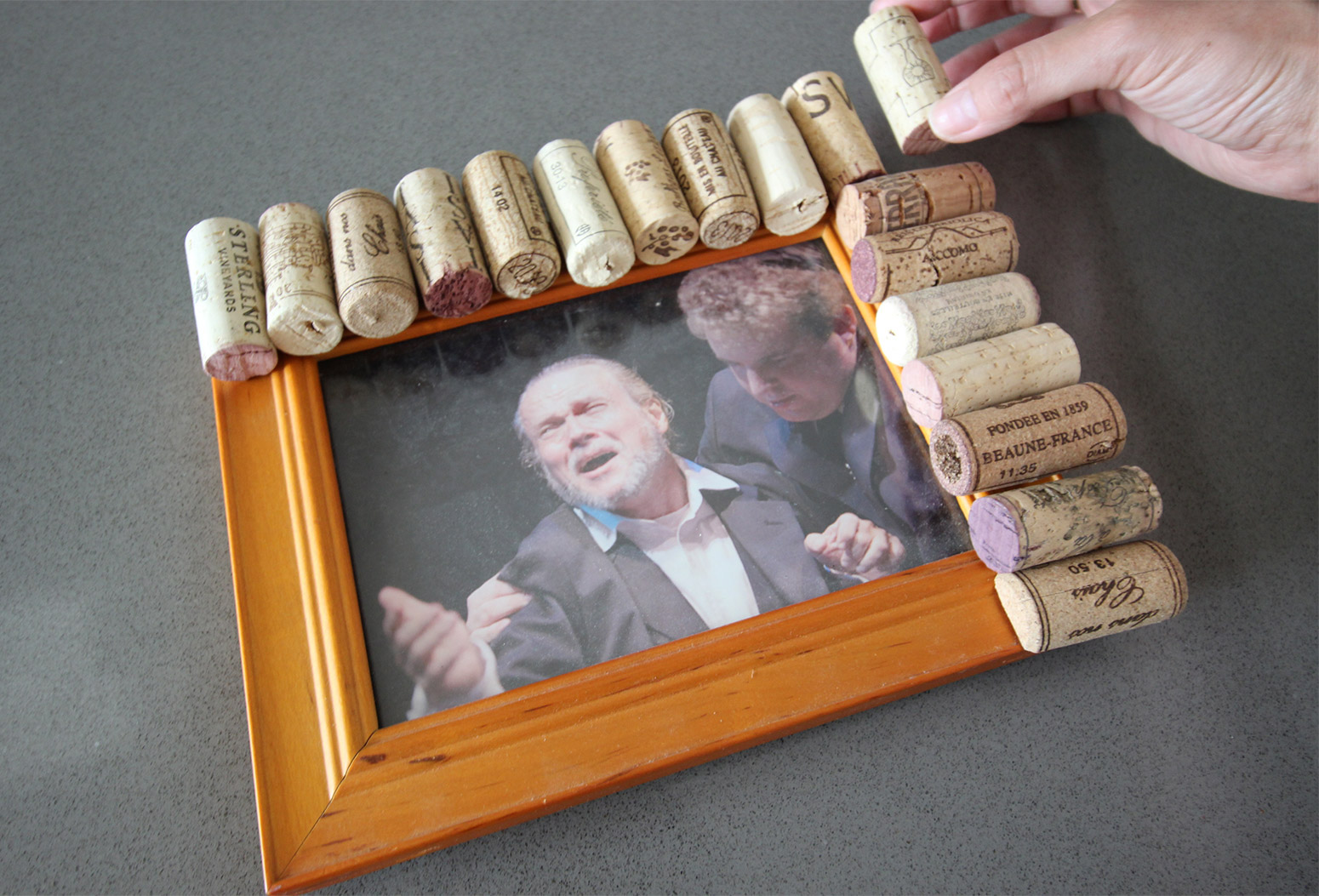 view in gallery cork pic frame diy lining up corks