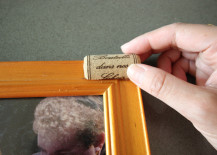 Cork Pic Frame DIY Placing Cork