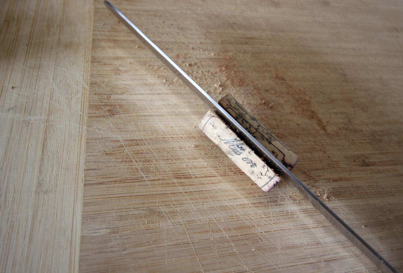Cork Pic Frame DIY Slicing Corks