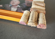 Cork Pic Frame DIY Wine Stained Edges